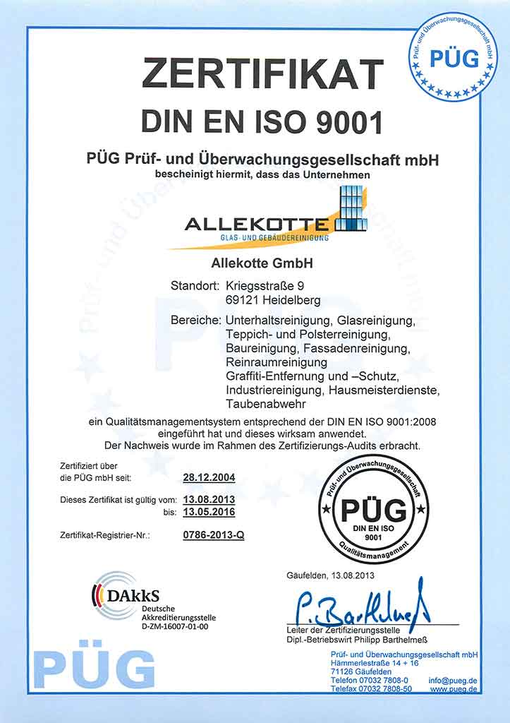 Qualitätsmanagement DIN EN ISO 9001